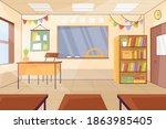 empty classroom. school... | Shutterstock .eps vector #1863985405