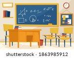 empty classroom. school... | Shutterstock .eps vector #1863985912