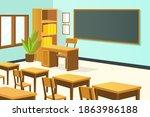 empty classroom. school...   Shutterstock .eps vector #1863986188