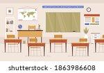empty classroom. school... | Shutterstock .eps vector #1863986608