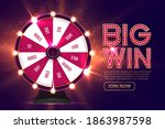 casino spinning fortune wheel... | Shutterstock .eps vector #1863987598