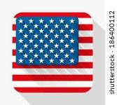 simple flat icon usa flag....