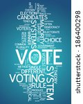 word cloud with vote related... | Shutterstock . vector #186400298