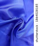 Blue Cloth Sleek And Shiny. ...