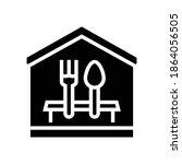 home dinner glyph icon vector....   Shutterstock .eps vector #1864056505