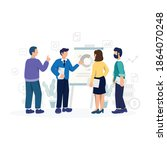 discussion and brainstorming in ...   Shutterstock .eps vector #1864070248