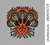 five headed cobra tattoo vector | Shutterstock .eps vector #1864076725