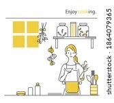 simple hand drawn illustration  ... | Shutterstock .eps vector #1864079365