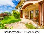 beautiful home exterior  luxury ... | Shutterstock . vector #186409592