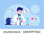 vaccine development concept... | Shutterstock .eps vector #1864097062