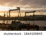 Maritime Skyline Of Shipyard...