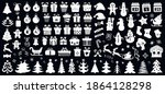 set of christmas icons. vector... | Shutterstock .eps vector #1864128298