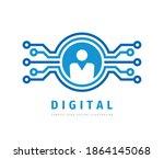 digital business concept logo... | Shutterstock .eps vector #1864145068