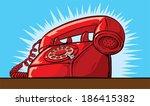 ringing phone  | Shutterstock .eps vector #186415382
