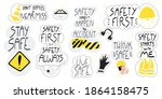 collection of hand drawn... | Shutterstock .eps vector #1864158475