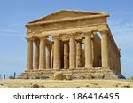 temple of concordia in the... | Shutterstock . vector #186416495
