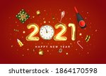 happy new year 2021 greeting... | Shutterstock .eps vector #1864170598