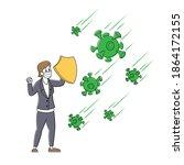 coronavirus pandemic protection ... | Shutterstock .eps vector #1864172155
