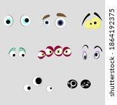 monsters eyes of set  cartoon...   Shutterstock .eps vector #1864192375