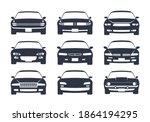 car black silhouette. cars... | Shutterstock .eps vector #1864194295