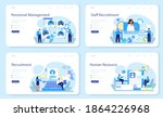 personnel management web banner ...   Shutterstock .eps vector #1864226968