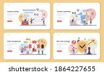 content marketing web banner or ... | Shutterstock .eps vector #1864227655