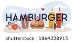 hamburger typographic header.... | Shutterstock .eps vector #1864228915