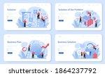 solution web banner or landing... | Shutterstock .eps vector #1864237792