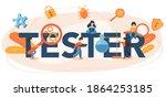 software tester typographic... | Shutterstock .eps vector #1864253185