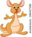 illustration of kangaroo cartoon   Shutterstock .eps vector #186427286
