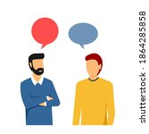 two men and various colored... | Shutterstock .eps vector #1864285858