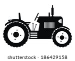 tractor   black  vector icon | Shutterstock .eps vector #186429158