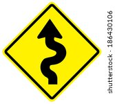 traffic sign vector with... | Shutterstock .eps vector #186430106