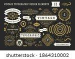 vintage typographic decorative... | Shutterstock .eps vector #1864310002
