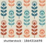 scandinavian folk style flowers ... | Shutterstock .eps vector #1864316698