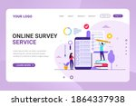 landing page template online... | Shutterstock .eps vector #1864337938