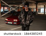 Stylish Man Hipster With...