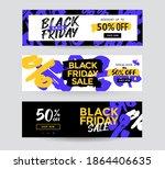 black friday sale banner... | Shutterstock .eps vector #1864406635