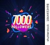 7000 followers celebration in...   Shutterstock .eps vector #1864453498
