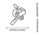 vegetable peeler linear icon.... | Shutterstock .eps vector #1864456795