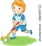 illustration of a little boy... | Shutterstock .eps vector #186445712