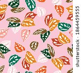 cute colourful leaves botanical ... | Shutterstock .eps vector #1864459555