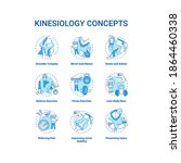 kinesiology concept turquoise... | Shutterstock .eps vector #1864460338