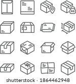 parcel icon illustration vector ... | Shutterstock .eps vector #1864462948