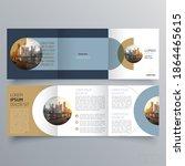 tri fold brochure template... | Shutterstock .eps vector #1864465615