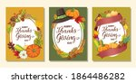 happy thanksgiving day card or... | Shutterstock .eps vector #1864486282