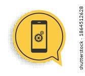 black setting on smartphone...   Shutterstock .eps vector #1864512628