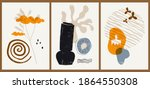 a set of three colorful...   Shutterstock .eps vector #1864550308