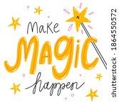 make magic happen  isolated...   Shutterstock . vector #1864550572