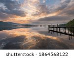 Derwentwater Sunset View With...
